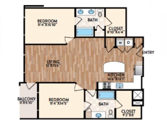 Asti Floor Plan  Rialto