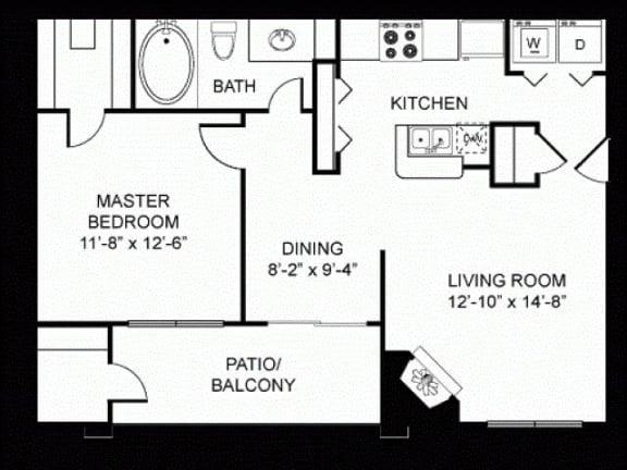 A2 Silver Package Floor Plan |Walnut Creek