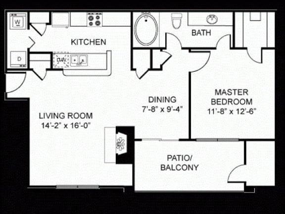 A3 Silver Package Floor Plan |Walnut Creek