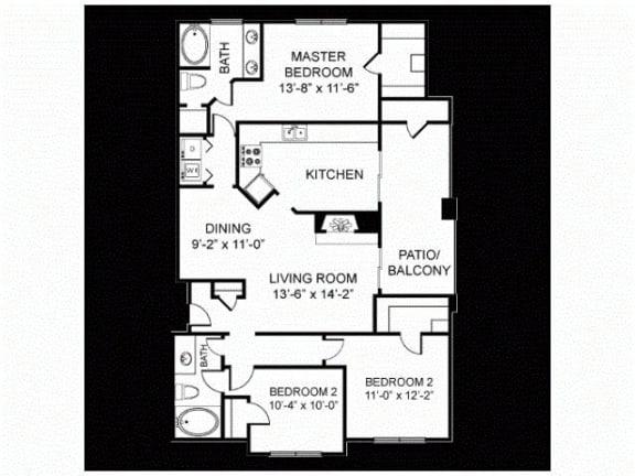 C1 Floor Plan |Walnut Creek