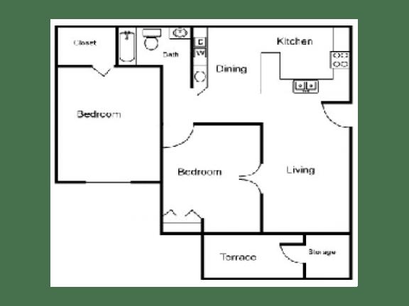 B Floor Plan  Village Place