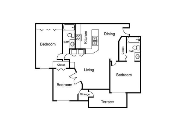 C Floor Plan  Village Place