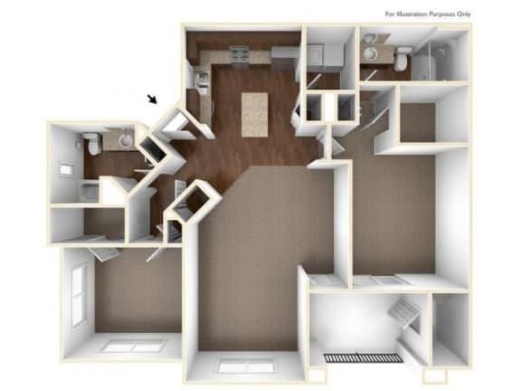 2A Floor Plan| Villas at San Dorado