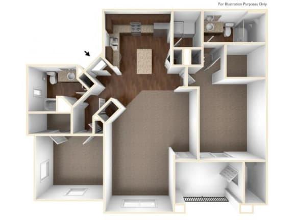 2B Floor Plan| Villas at San Dorado