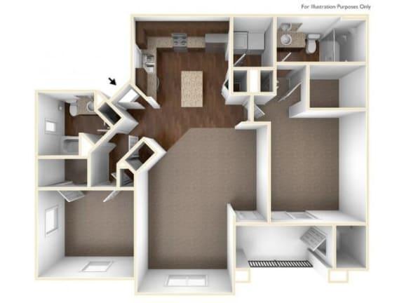 2C Floor Plan| Villas at San Dorado
