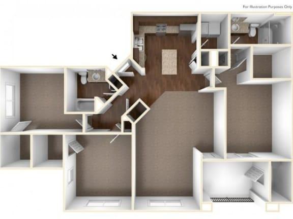 3A Floor Plan| Villas at San Dorado