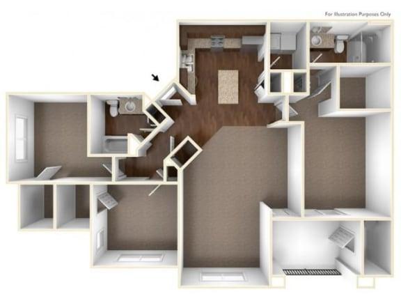 3B Floor Plan| Villas at San Dorado