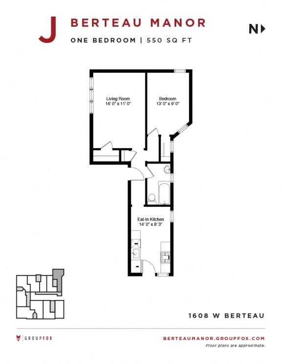 Berteau Manor - One Bedroom