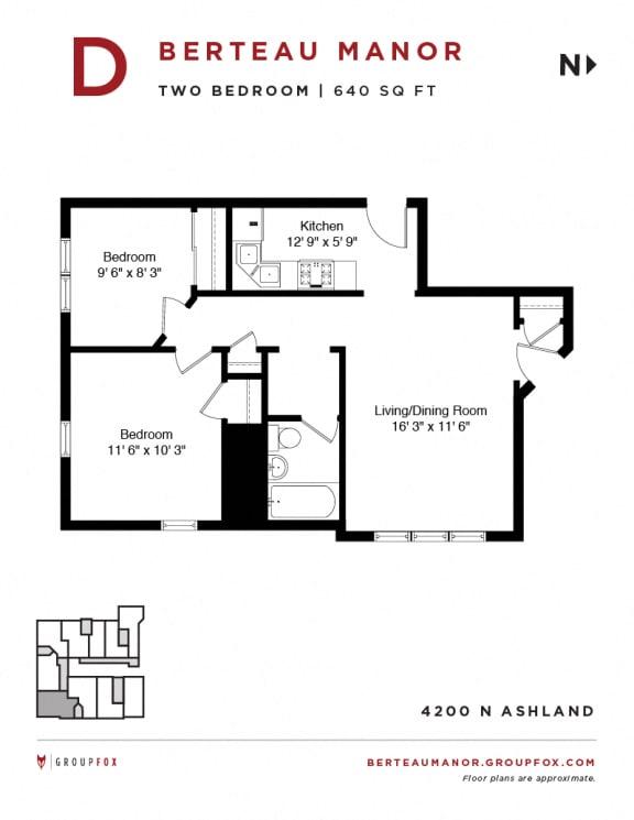 Berteau Manor - Two Bedroom