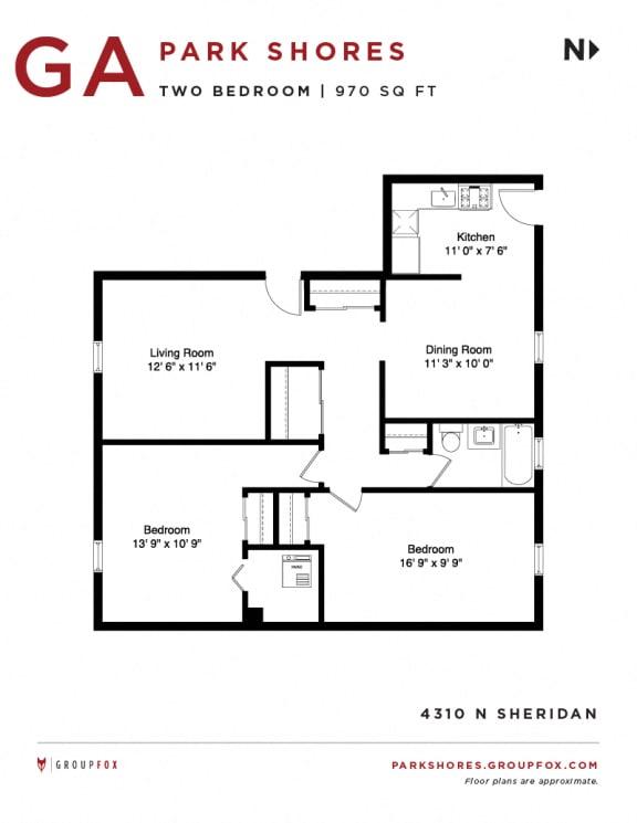 Park Shores - Two Bedroom Floorplan GA