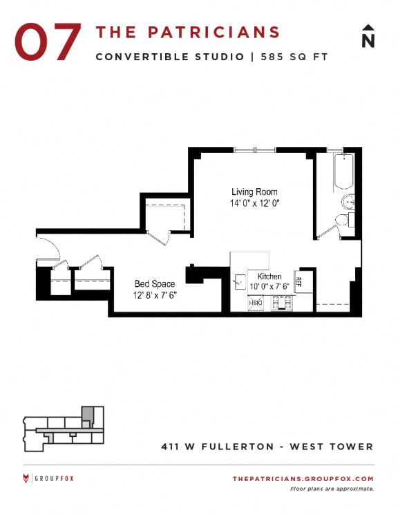 Group Fox - The Patricians - Convertible Floor plan