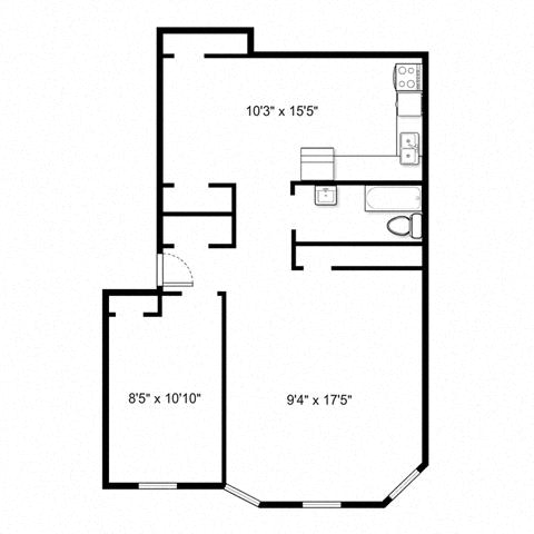 The Pelham - One Bed Floorplan