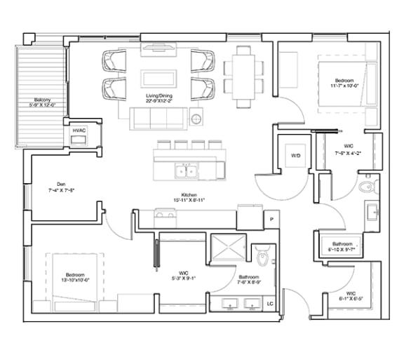 Floor Plan  James with Den