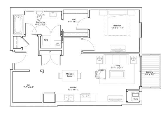 Floor Plan  Hayworth with Den