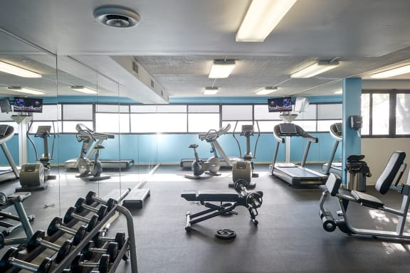 Fitness Center, Walnut Towers at Frick Park, pet-friendly apartments in Pittsburgh, PA