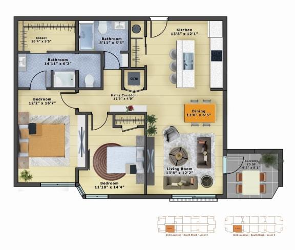 Floor Plan  Quartz (2b/2b)