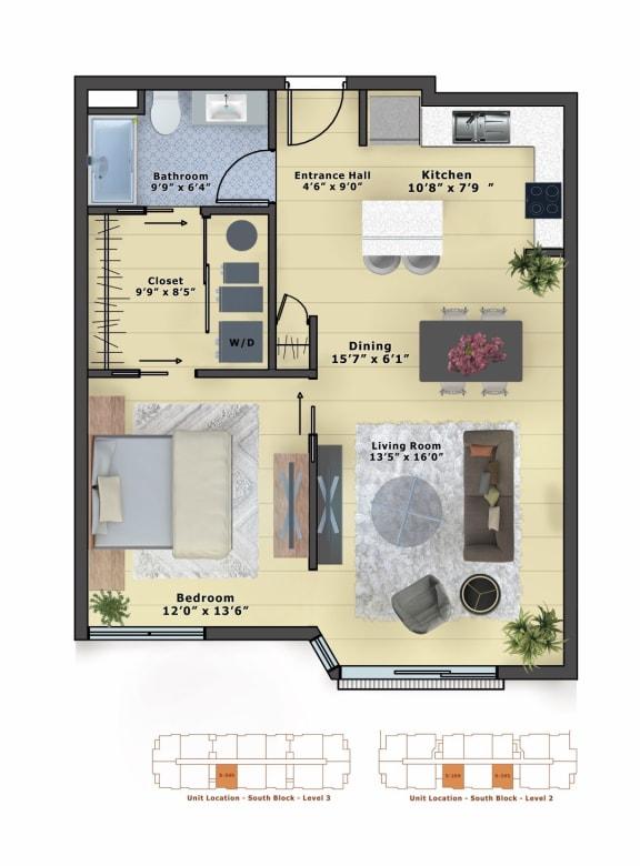 Floor Plan  Silver (1b/1b)