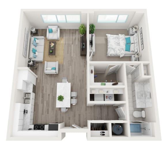 Floor Plan  1B Biscayne