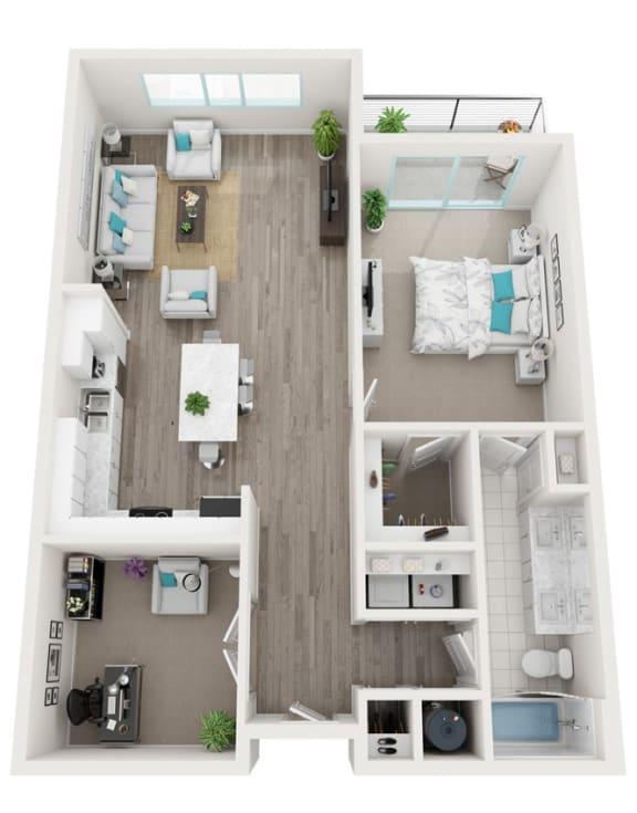 Floor Plan  1F (Den) Marquis