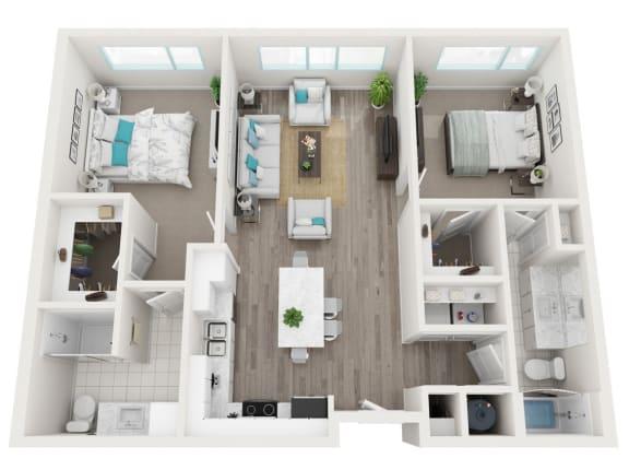 Floor Plan  2A  Brickell