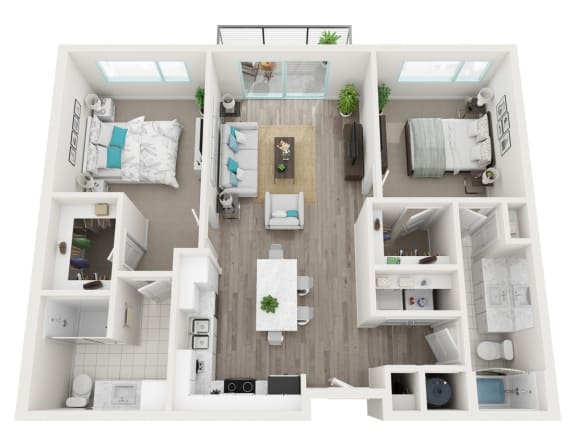 Floor Plan  2B Paradise