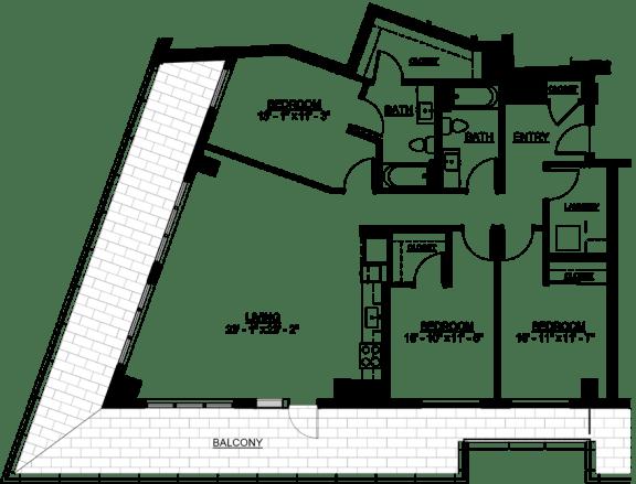 Floor Plan  Riverwest Floor Plan - E2 - 1474 sqft
