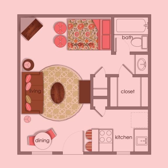Floor Plan  Vol 1 E1 color wash at Volume, Austin, TX