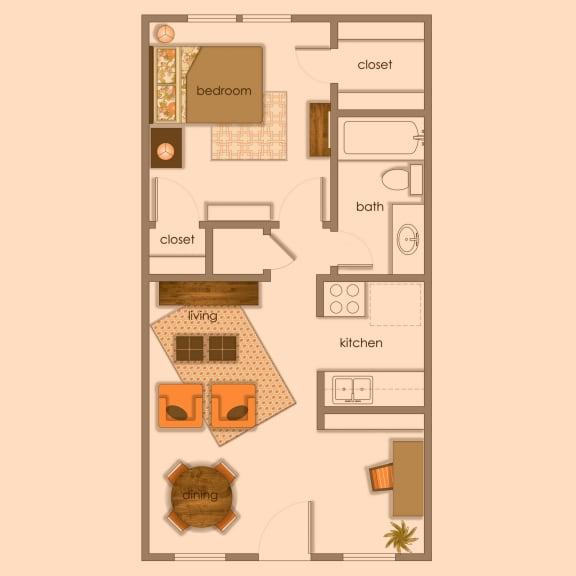 Floor Plan  A1 color wash at Volume, Texas, 78722