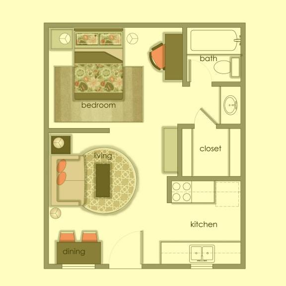 Floor Plan  Vol 3 E1 color wash at Volume, Austin, 78722