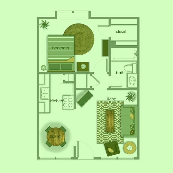 Floor Plan  Vol 5 A2 color wash at Volume, Texas, 78722