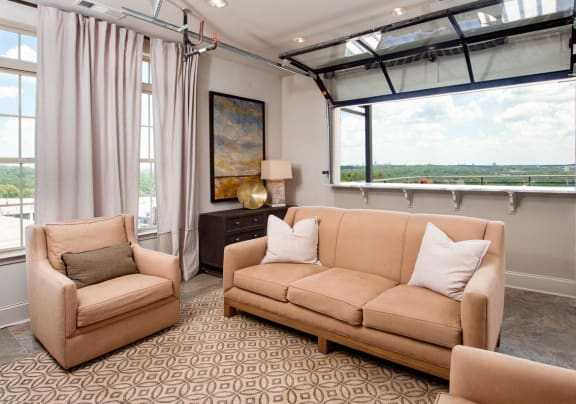 Interior Skydeck with skyline views at RIverwood, Atlanta, Georgia