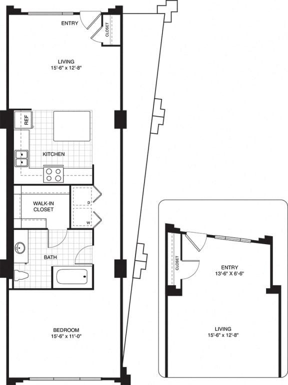 1 bed 1 bath apartments for rent in Villa Park, IL