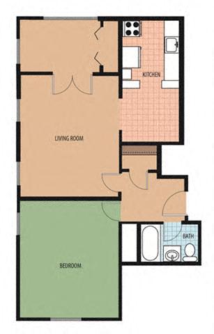 Woodley I Floor Plan at Park Marconi, Washington, 20010