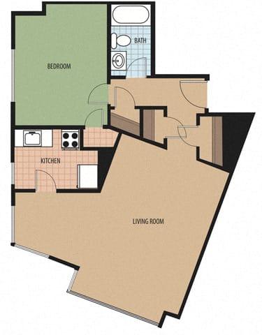 Kalorama Floor Plan at Sarbin Towers, Washington, 20010