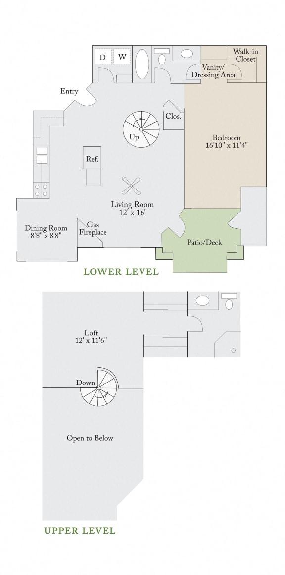 Floor Plan  Floor plan at Cambridge Apartments, Raleigh, NC 27615