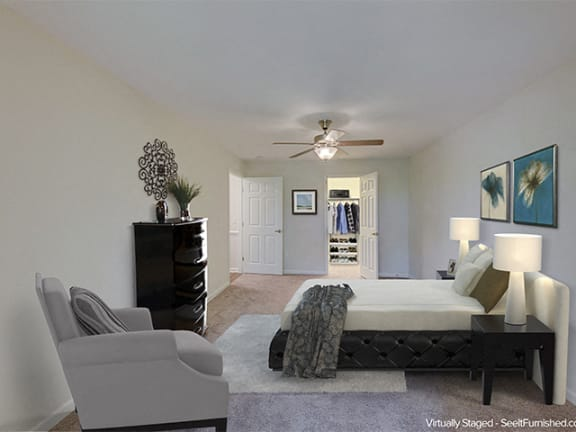 Master Bedroom at Cambridge Apartments, Raleigh, North Carolina