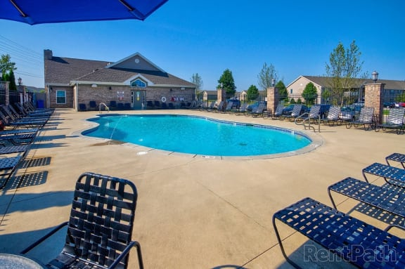 Outdoor Swimming Pool at Hawthorne Properties, Lafayette, IN