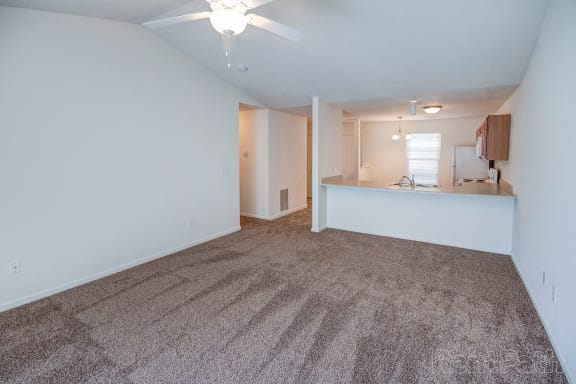 Aspen Living Room View at Hawthorne Properties, Lafayette, Indiana