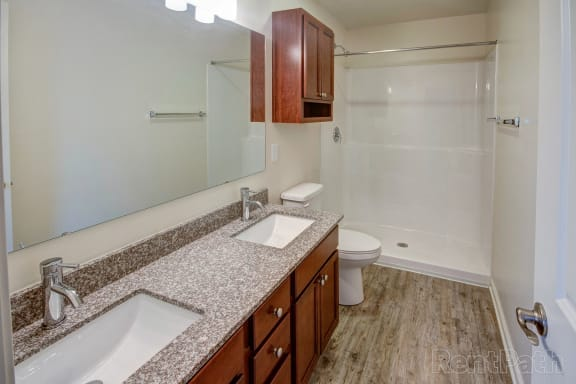 Spa Inspired Bathroom at Hawthorne Properties, Indiana, 47905