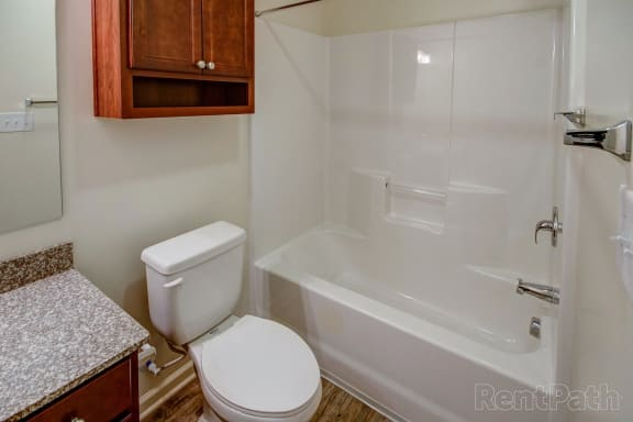 Bathroom With Bathtub at Hawthorne Properties, Lafayette, IN, 47905