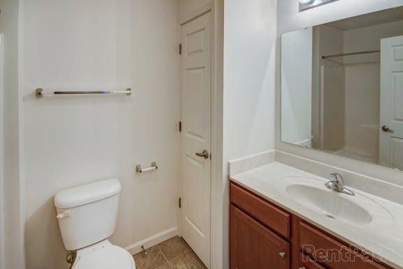 Cypress Hallway (Second) Bathroom at Hawthorne Properties, Lafayette, 47905