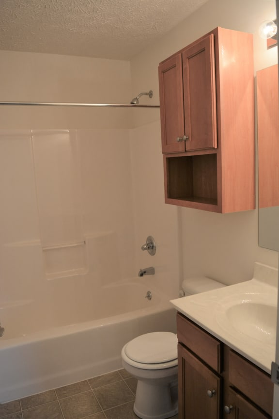 Guest bathroom (Hall) at Hawthorne Properties, Lafayette, IN