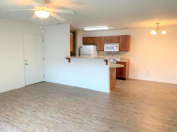 Cypress 2x2 apt with Vinyl Plank Floor Upgrade at Hawthorne Properties, Indiana