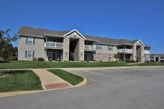Cedar Street View - Parking Lot at Hawthorne Properties, Indiana