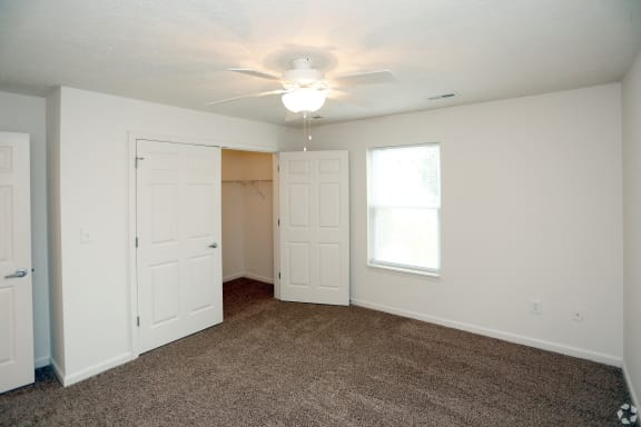 Cedar Bedroom and Closet at Hawthorne Properties, Lafayette, Indiana