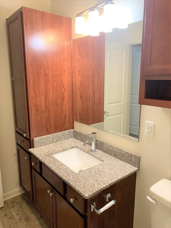 Renovated Bathrooms With Quartz Counters at Hawthorne Properties, Lafayette