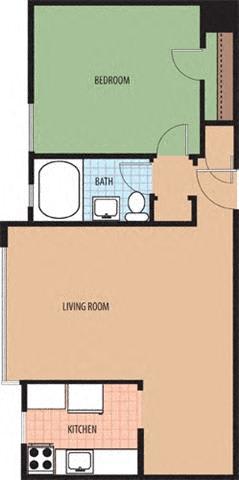 Cornell Floor Plan at Richman Towers, Washington, DC