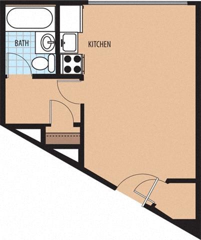 Harvard Floor Plan at Richman Towers, Washington, DC, 20009