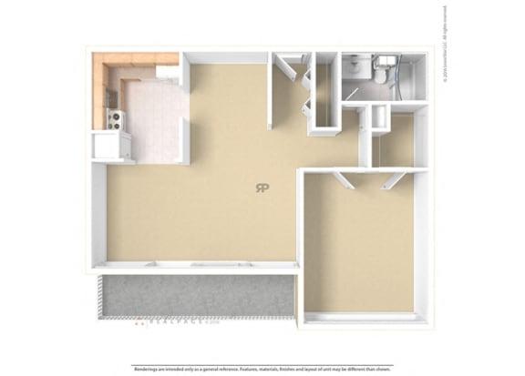 Floor plan at The Aspen, Alexandria, VA
