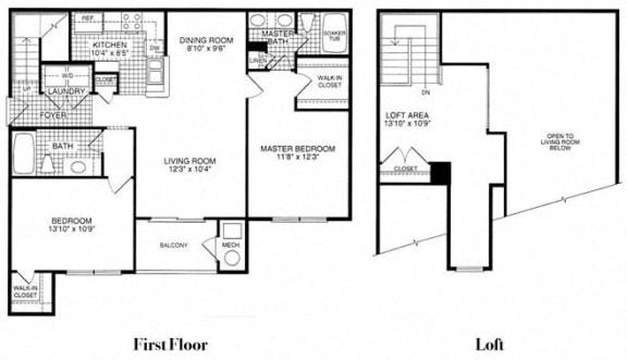 Floor plan at Woodland Park, Herndon